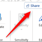 How to share Microsoft Word Documents using OneDrive?