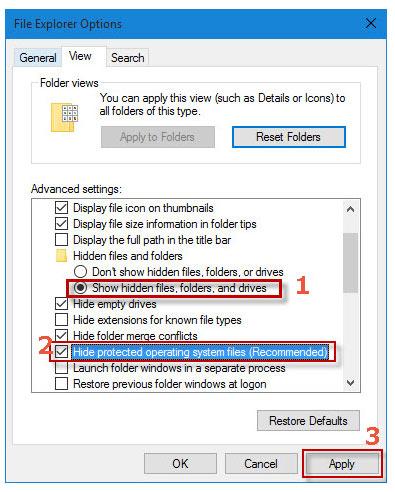 windows view files folder