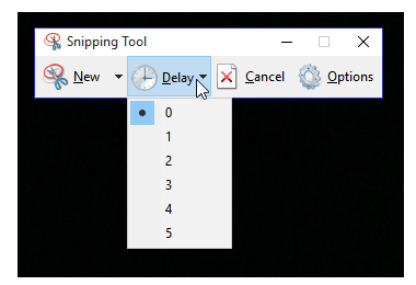 windows snipping delay