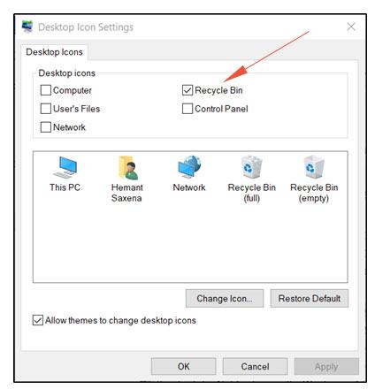 recycle Desktop icon