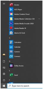 windows-10 start apps