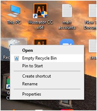 windows recycle empty