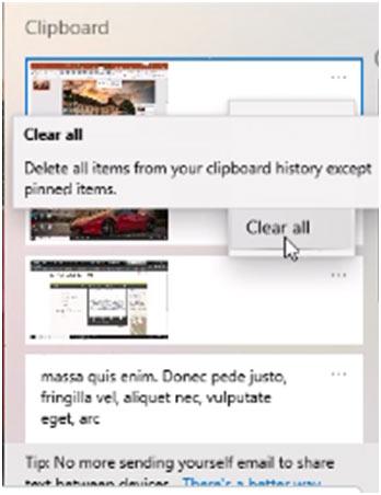 windows clipboard clear