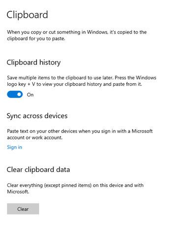 windows clipboard tab