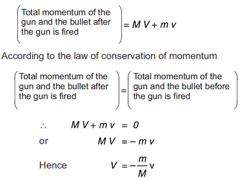 Example of Law of Conservation of Momentum